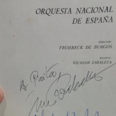 Autógrafos de Música : AUTÓGRAFOS. FRÜHBECK DE BURGOS. NICANOR ZABALETA. TEATRO REAL TEMPORADA 1974/1975 - MÚSICA CLÁSICA. Lote 248408105
