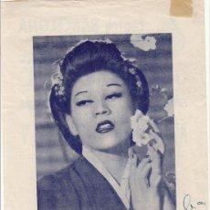 Autógrafos de Música : CONCHITA PANADÉS EN «MADAMA BUTTERFLY» 1956 - TEATRO BARCELONA - FOTO CON AUTÓGRAFO - CANTANTE ÓPERA. Lote 252060980