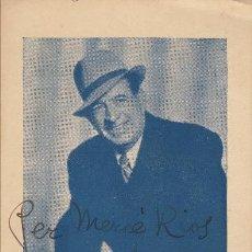 Autógrafos de Música : RETRATO DE EMILI VENDRELL - ESTAMPA FOTOMECÁNICA - AUTÓGRAFO 1945 - TENOR ZARZUELA TEATRO. Lote 252160200