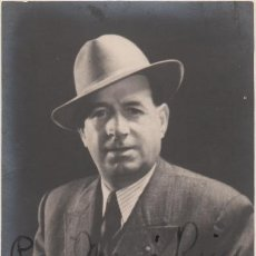 Autógrafos de Música : FOTOGRAFÍA DE EMILI VENDRELL - JUAN B. GAUSÍ LEÓN (BARCELONA) - AUTÓGRAFO - TENOR ZARZUELA TEATRO. Lote 252160475