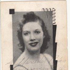 Autógrafos de Música : ESTAMPA FOTOMECÁNICA DE PILAR TORRES - AUTÓGRAFO 1942 - SOPRANO ZARZUELA TEATRO. Lote 252171730