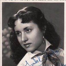 Autógrafos de Música : Mª CARMEN SOLVES - AUTÓGRAFO 1955 - FOTO ESTUDIOS RUIZ PAMPLONA - SOPRANO ZARZUELA TEATRO. Lote 252177080