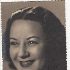 Autógrafos de Música : TERESITA SILVA - AUTÓGRAFO - FOTOGRAFÍA ANTONIO ZARAGOZA 1945 - ARTISTA TIPLE CÓMICA ZARZUELA TEATRO. Lote 252178130