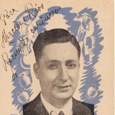 Autógrafos de Música : FULGENCIO GUTIER TAKAO POSTAL PUBLICIDAD TEATRE VICTÒRIA BARCELONA 1941 AUTÓGRAFO BARÍTONO ZARZUELA. Lote 252219735