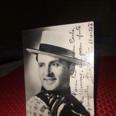 Autografi di Musica : ANGELILLO - FOTOGRAFÍA ORIGINAL Y AUTÓGRAFO -AÑO 1956 - AL TEATRO PRINCIPAL DE MONOVAR (ALICANTE. Lote 252590700