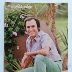 Autógrafos de Música : FOTOGRAFIA FIRMADA DE MANOLO ESCOBAR, DEDICADA A EMILITA BLANCO. Lote 254558585