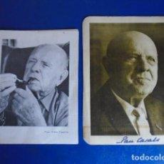 Autógrafos de Música : (FOT-210401)LOTE DE TARJETAS CON FOTOGRAFIAS DE PAU CASALS FIRMAS ORIGINALES. Lote 254753915