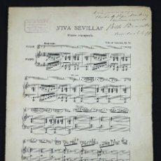 Autógrafos de Música : PABLO SARASATE, PARTITURA FIRMADA Y DEDICADA, AÑO 1897.. Lote 254796705