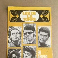 Autógrafos de Música : LOS DE LA TORRE POSTAL DISCOGRAFICA ORIGINAL ANTIGUA CON AUTOGRAFOS. Lote 261683510