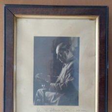 Autógrafos de Música : FOTO ENMARCADA CON AUTOGRAFO ORIGINAL DEL MUSICO TENOR EMILI VENDRELL,1944. Lote 262240575