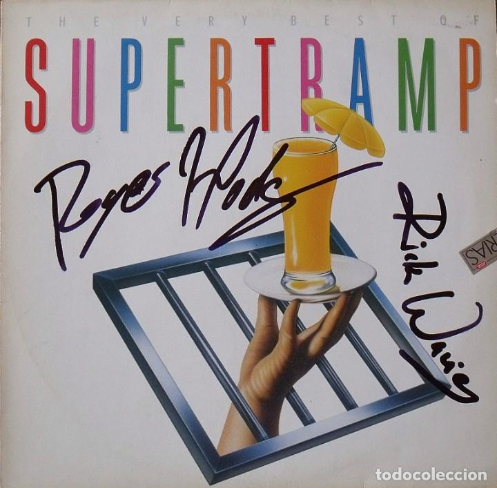 THE VERY BEST OF SUPERTRAMP. AUTÓGRAFOS ROGER HODGSON Y RICK DAVIES. AM RECORDS. 1991. 31X31 CM. LP. (Música - Autógrafos de Cantantes )