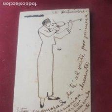 Autographes de Musique : POSTAL ILUSTRADA. AUTÓGRAFO. VIOLINISTA GALLEGO DE PONTEVEDRA MANUEL QUIROGA LOSADA 1912. Lote 262778540