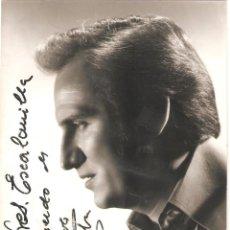 Autógrafos de Música: AUTÓGRAFO DEL CANTANTE MANOLO ESCOBAR (EL EJIDO,ALMERIA 1931). Lote 263685735