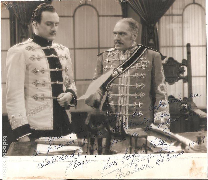 AUTÓGRAFO BARÍTONO LUIS SAGI VELA (MADRID,1914) HIJO DE EMILIO SAGI BARBA Y LA SOPRANO LUISA VELA (Música - Autógrafos de Cantantes )