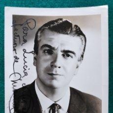 Autógrafos de Música : MANUEL AUSENSI BARÍTONO FOTOGRAFÍA FIRMADA Y DEDICADA OPERA 1965. Lote 265775849