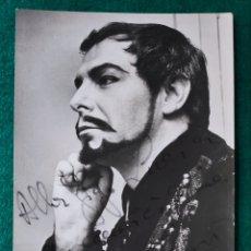 Autógrafos de Música : MARIO ZANESI BARÍTONO FOTOGRAFÍA FIRMADA Y DEDICADA OPERA 1966. Lote 265776939
