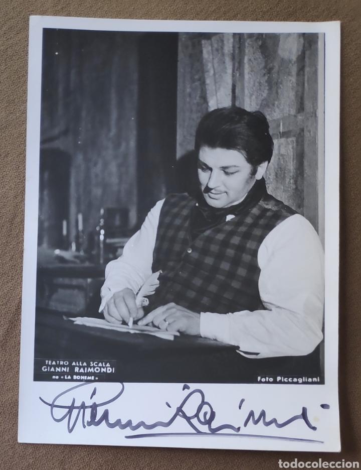 GIANNI RAIMONDI TENOR FOTOGRAFÍA FIRMADA Y DEDICADA OPERA 1965 (Música - Autógrafos de Cantantes )