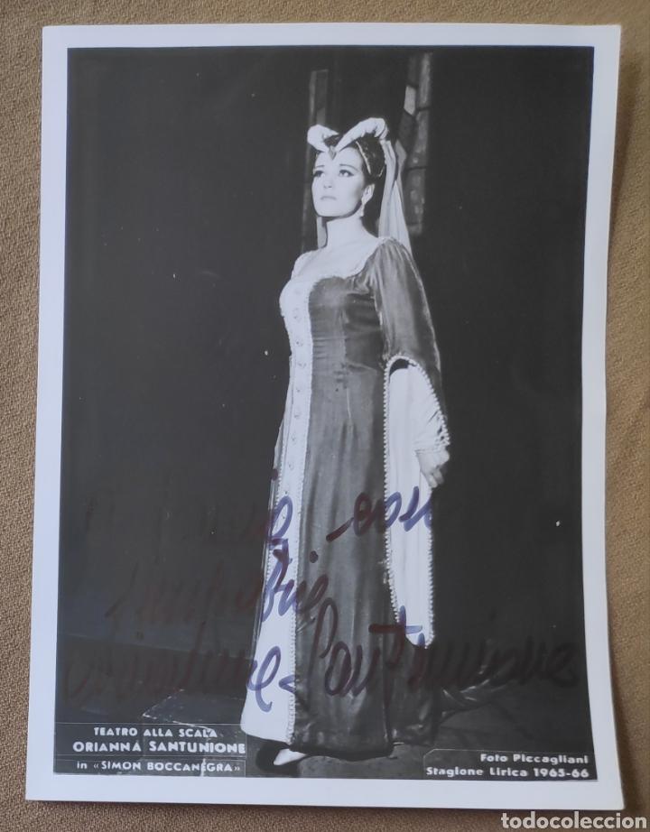 ORIANNA SANTUNIONE SOPRANO FOTOGRAFÍA FIRMADA Y DEDICADA OPERA 1965 (Música - Autógrafos de Cantantes )
