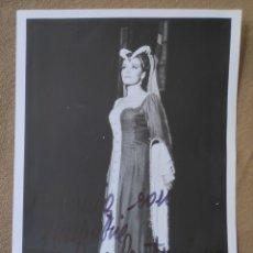 Autógrafos de Música : ORIANNA SANTUNIONE SOPRANO FOTOGRAFÍA FIRMADA Y DEDICADA OPERA 1965. Lote 265779254
