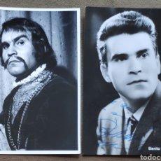 Autógrafos de Música : BENITO DI BELLA BARÍTONO FOTOGRAFÍA FIRMADA Y DEDICADA OPERA 1966. Lote 265782389