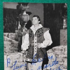 Autógrafos de Música : FRANCO TAGLIAVINI TENOR FOTOGRAFÍA FIRMADA Y DEDICADA OPERA 1966. Lote 265881048