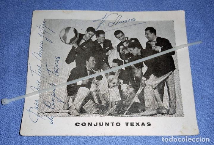 DIFICIL FOTO CON DEDICATORIA Y FIRMADA DEL CONJUNTO LOS TEXAS ORIGINAL (Música - Autógrafos de Cantantes )