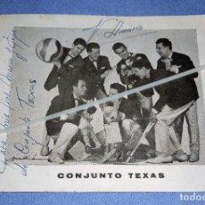 Autógrafos de Música : DIFICIL FOTO CON DEDICATORIA Y FIRMADA DEL CONJUNTO LOS TEXAS ORIGINAL. Lote 267326259