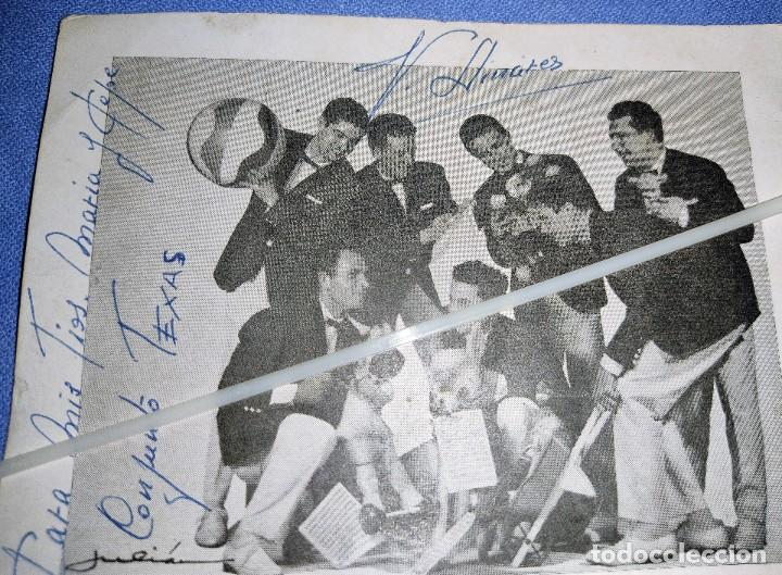 Autógrafos de Música : DIFICIL FOTO CON DEDICATORIA Y FIRMADA DEL CONJUNTO LOS TEXAS ORIGINAL - Foto 2 - 267326259
