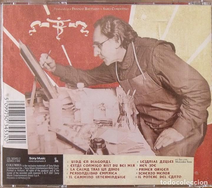 Autógrafos de Música : Franco Battiato. Autógrafo, autograph, firma. CD. Hierro forjado. 2001. Sony. Columbia. 13x14 cm. - Foto 4 - 268429204