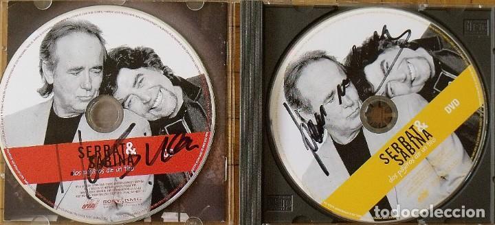 SERRAT SABINA. AUTÓGRAFOS, AUTOGRAPHS, FIRMAS. CD. DOS PÁJAROS DE UN TIRO. SONY. 2007. 13X14 CM. (Música - Autógrafos de Cantantes )