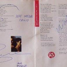 Autografi di Musica : MECANO. AUTÓGRAFOS, AUTOGRAPHS, FIRMAS. CD. AIDALAI. 1991. ARIOLA. ANA TORROJA, HERMANOS CANO.. Lote 268439049