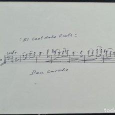 Autografi di Musica : EL CANT DELS OCELLS. FRAGMENTO DE PARTITURA PARA CELLO. FIRMA DE PAU CASALS. SIGLO XX. Lote 274180408
