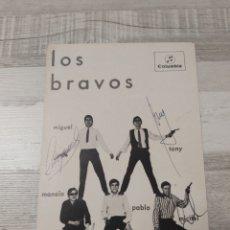 Autografi di Musica : LOS BRAVOS COLUMBIA POSTAL FIRMADA, DISCOGRAFIA AÑOS 60-70. Lote 275513398