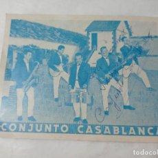Autógrafos de Música : CONJUNTO CASABLANCA AUTÓGRAFO ORIGINAL NO COPIA. REF.AUTO. Lote 276819853