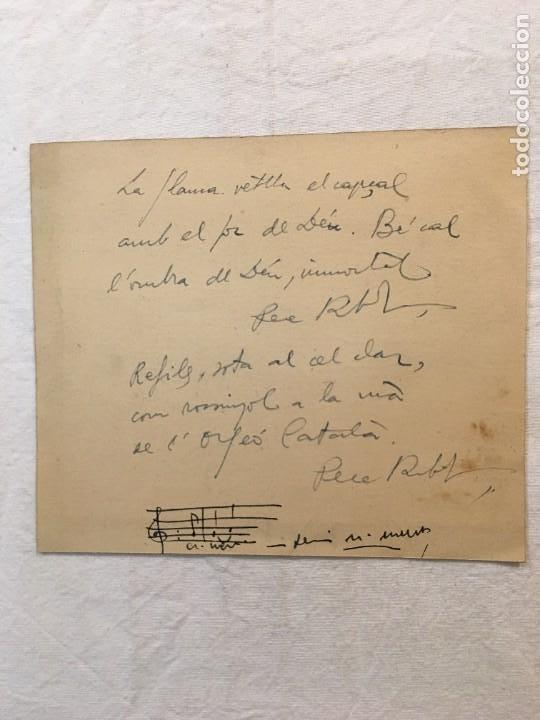 Autógrafos de Música : Menú. Jovenívola. Sopar de Germanor. Interesante Ded. Autógrafa de Pere Ribot. Ejemplo.., Barna,1957 - Foto 2 - 277501578
