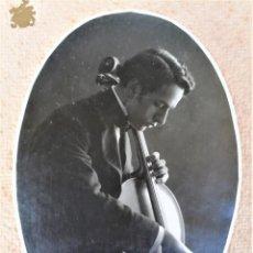 Autógrafos de Música : MUSICA CATALUÑA,VIOLIN,FOTOGRAFIA DEDICADA AÑO 1915.VIOLONCHELISTA GASPAR CASSADO,ALUMNO PAU CASALS. Lote 280300893