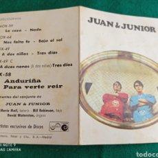 Autógrafos de Música : DISCOGRAFÍA JUAN & JUNIOR CON AUTÓGRAFOS. Lote 285390843