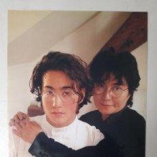 Autógrafos de Música: FOTOGRAFÍA CON AUTÓGRAFOS DE YOKO ONO Y SEAN LENNON ZARAGOZA AÑO 2000 BEATLES. Lote 286949258