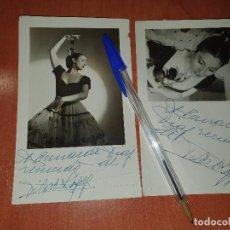 Autógrafos de Música : PILAR LOPEZ, 2 FOTOGRAFIAS CON DEDICATORIA AUTOGRAFA DE LA BAILARINA. Lote 287934863
