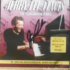 Autógrafos de Música : JERRY LEE LEWIS ORIGINAL SIGNED 1990 FIRMADO AUTOGRAFO SPAIN JUEVES 10 MAYO 1990. Lote 289730098