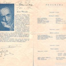 Autógrafos de Música : 1954 AUTOGRAFO LUIS MORONDO Y OTROS DE AGRUPACION CORAL DE CAMARA PAMPLONA PRESENTACION EN URUGUAY. Lote 289941333
