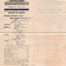 Autógrafos de Música : 1947 AUTOGRAFO ORIGINAL ENRIQUE INIESTA VIOLIN LUIS GALVE PIANO PRESENTACION EN URUGUAY PROGRAMA. Lote 289943953