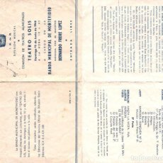 Autógrafos de Música : 1948 AUTOGRAFO ORIGINAL BERNARDO FREIRE LOPEZ PRESENTACION EN URUGUAY PROGRAMA. Lote 289944228