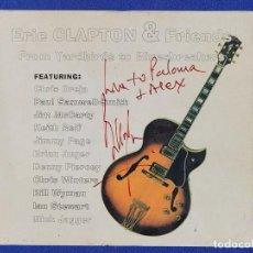 Autógrafos de Música : CD CON ERIC CLAPTON & FRIENDS, CON EL AUTÓGRAFO DE ERIC CLAPTON Y BILL WYMAN. Lote 290949843