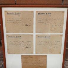 Autógrafos de Música : DOCUMENTOS CALIFICACIONES ACADEMIA AINAUD FIRMADA POR PABLO CASALS (PAU CASALS) VIOLONCELO.1915-19.. Lote 292094718