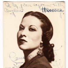 Autógrafos de Música : RETRATO LOLITA PASTOR - AUTÓGRAFO 1946 - SOPRANO - ZARZUELA ÓPERA TEATRO. Lote 293921928