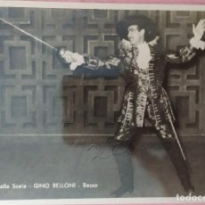 Autógrafos de Música : FOTO GINO BELLONI - BASSO - TEATRO ALLA SCALA - FIRMADA. Lote 295502368