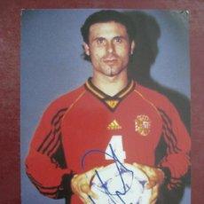 Coleccionismo deportivo: JUGADOR DE LA SELECCION ESPAÑOLA - AUTOGRAFO IMPRESO - ALKORTA. Lote 30871167