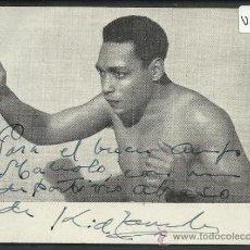 Coleccionismo deportivo: LUCHA LIBRE - AUTOGRAFO - KID ZAMBOA - (V-57). Lote 36594359