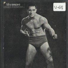 Coleccionismo deportivo: LUCHA LIBRE - AUTOGRAFO - HUSBERG - (V-68). Lote 36594519
